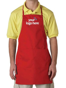 Unisex Adjustable Red Apron