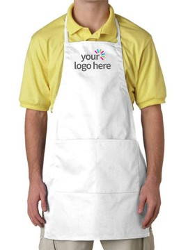 Unisex Adjustable White Apron