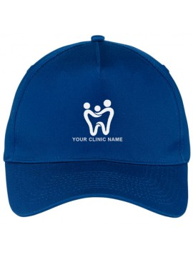 Personalized Dentist Cap Royal Blue
