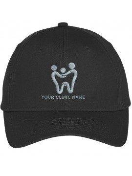 Embroidered Dentist Cap Black