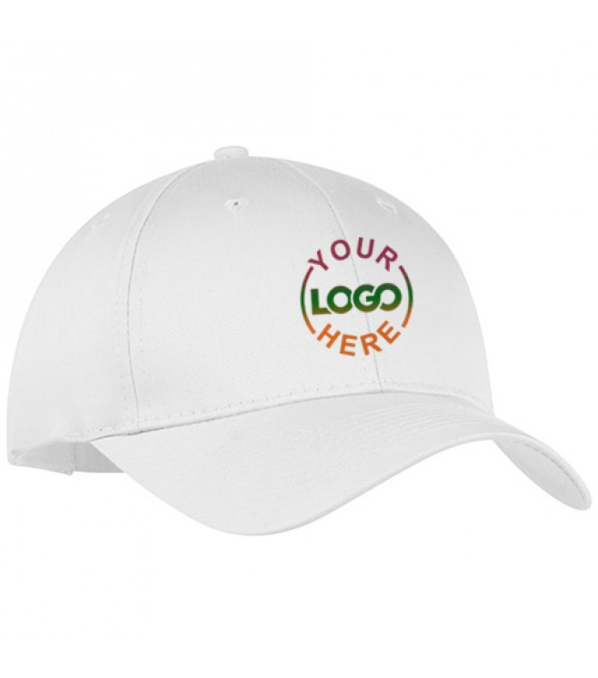 Customized Embroidered Golf Caps White