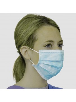 Non-woven 3 ply face mask with flat ear loops