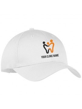 Embroidered Dentist Cap White