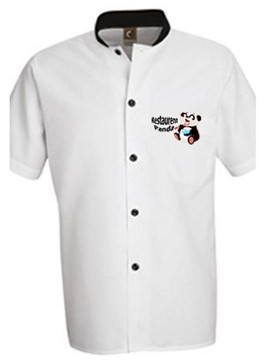 White Color printed Chef Shirt