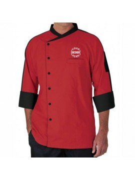 Classic Red Embroidered Chef Coat