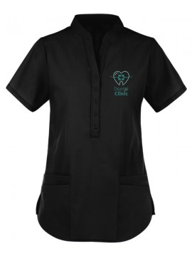 Collar Scrub Suit Black