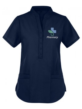 Collar Scrub Suit Navy