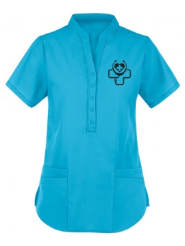 Collar Scrub Suit Sky Blue
