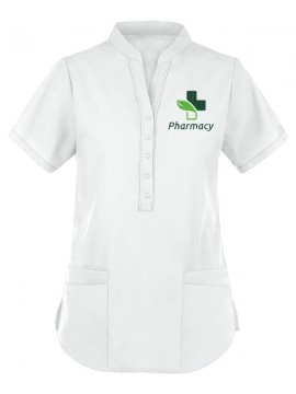 Collar Scrub Suit White