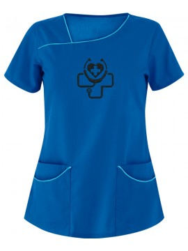 Four Pocket Scrub Suit Royal Blue