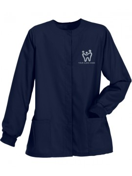 Ladies Jacket Scrub Suit Navy