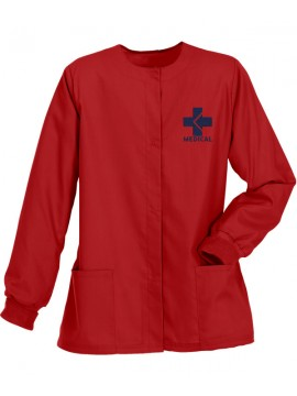 Ladies Jacket Scrub Suit Red