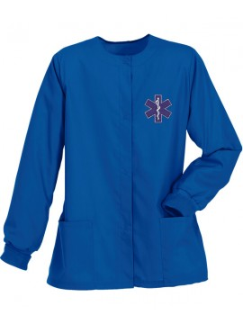 Ladies Jacket Scrub Suit Royal Blue
