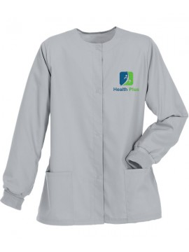 Ladies Jacket Scrub Suit Silver