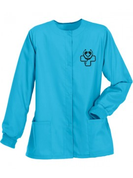Ladies Jacket Scrub Suit Sky Blue