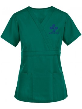 Mock Wrap Scrub Suit Green