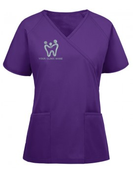 Raglan Mock Scrub Suit Purple
