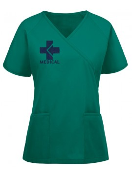 Raglan Mock Scrub Suit Green