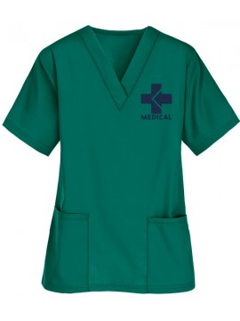 Two Pocket Scrub Suit Green