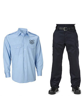 security guard shirt and trouser uniform combo