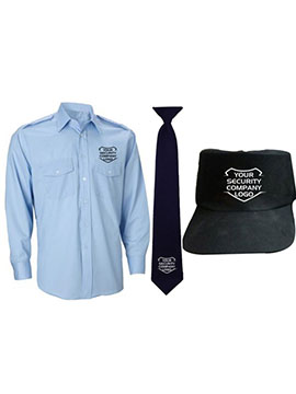 shirt tie and cap security guard uniform combo