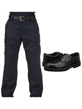 trouser and shoes security guard uniform combo