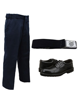 trouser shoes and belt security guard uniform combo