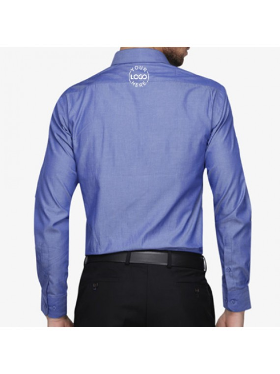Personalized embroidered shirt chambray promotionalwears for Custom embroidered t shirts no minimum
