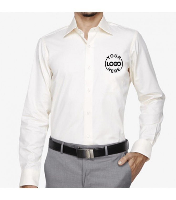 Embroidered Business Shirt Off White