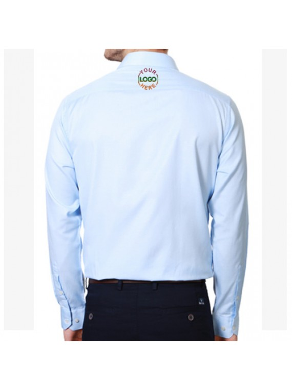 Embroidered Shirt Sky Blue