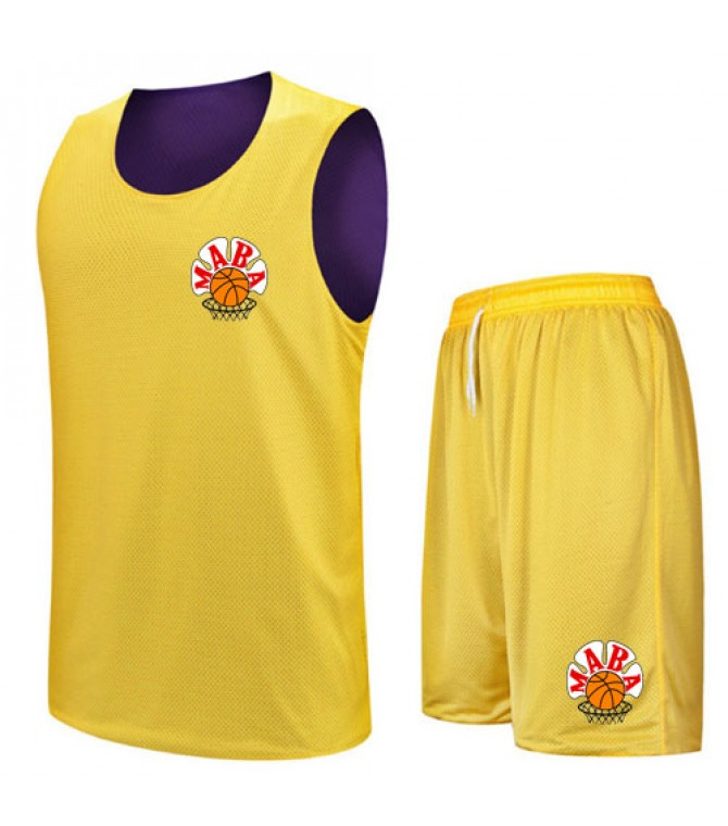 Basketball Uniforms Sets Yellow