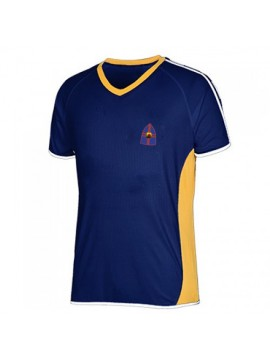 Royal blue football team uniform shirt