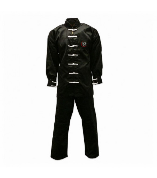 black karate uniform suit