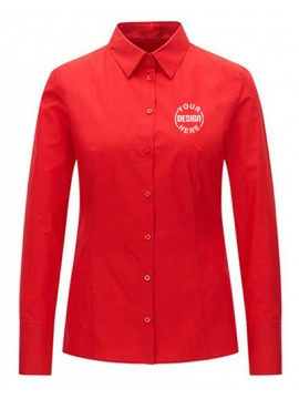 Red Formal Women Shirt