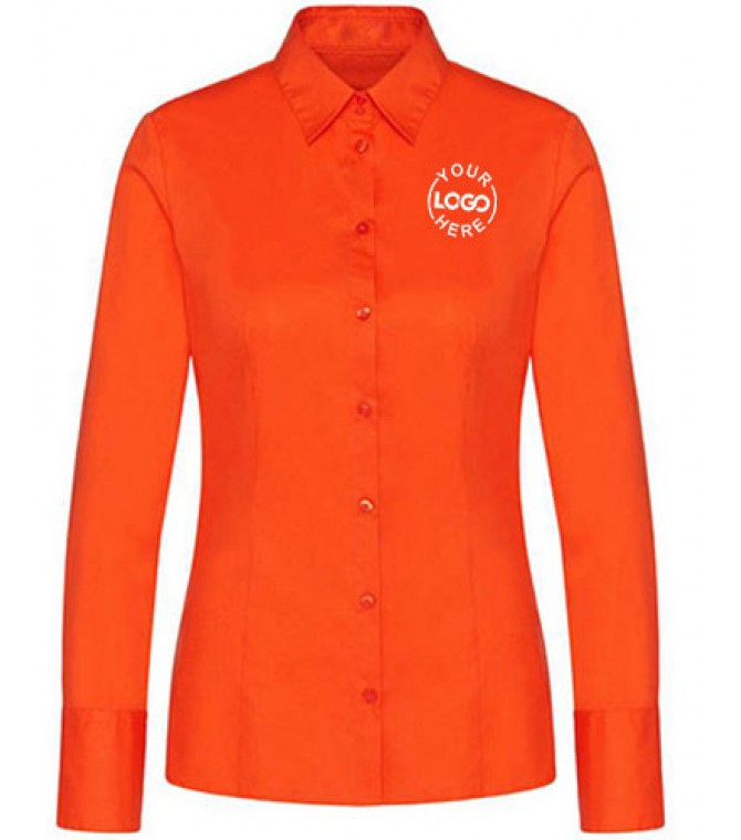 Orange Color Women Shirt
